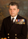 Surgeon Captain James Campbell. Last Commanding Officer Royal Hospital Haslar and Fort Blockhouse