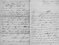 William  Knapp Letter to Home