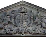 Centre - King George II Coat of Arms